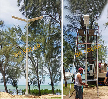 BR SOLAR All in one Solar Street Light Supply à Maurice